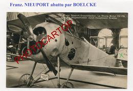AVION-NIEUPORT-Abattu Par BOELCKE-Ausstellung-Expo En Allemagne-CARTE PHOTO All.-14-18-1 WK-Aviation-Fliegerei-Militaria - 1914-1918: 1st War