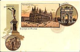 Gruss Aus  Milano Prima Del  1900    . - Saluti Da.../ Gruss Aus...