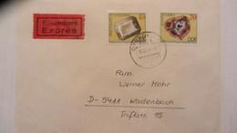 """DDR: Eil-Brief Mit 70 Pf """"Mineralien Aus Freiberg"""" Von Dresden über Koblenz Nach Kadenbach 16.4.84 Knr: 2007,2011 - DDR"""