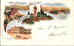 Gruss Aus   Lago Maggiore  Prima Del  1900    . - Saluti Da.../ Gruss Aus...