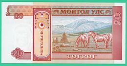 20 Tugrik - Mongolie - 1993 - N° AA0363506 - Neuf - - Mongolia