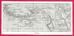 Panama Carte Larousse 1948 - Cartes Géographiques