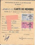 Carte De Pêche  Taxe Piscicole 1969 - Old Paper