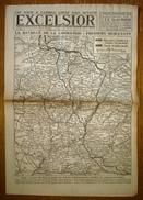 Excelsior 2883 11/10/1918 Visite à Cambrai Libéré Mais Dévasté - La Bataille De La Libération - Chemin Des Dames - Zeitungen