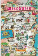 Greetings From Wisconsin. Postcard Addressed To ANDORRA - Etats-Unis