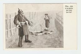 CPA Soldat Satire - Humour - Illustrateur Non Déchiffré. IMP. F. Carillat, St-Julien, Haute-Savoie (Déposé). Carte Post - Autres Illustrateurs