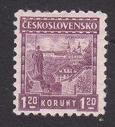 Czechoslovakia, Scott #132, Mint Hinged, Strahov Monastery, Issued 1927 - Unused Stamps