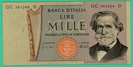 1000 Lire - Italie - N°.QC361268D - TTB+ - - [ 2] 1946-… : Républic