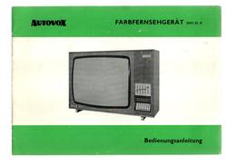 AUTOVOX FARBFERNSEHGERAT 2692 SI/E - Andere Sammlungen