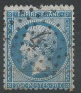 Lot N°33900  N°22, Oblit étoile Chiffrée 4 De PARIS ( R. De Cléry ) - 1862 Napoléon III