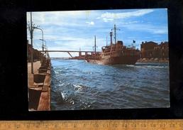 MARTIGUES : Canal De Marseille Au Rhône 1974 Bateau Navire Cargo Ship Boat Maritime Vessel Ship FLAMINIA Trieste Nave - Martigues