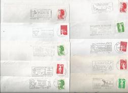 Lot De 10 Enveloppes Avec Flammes - Thème : Vaches Et Taureaux