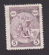 Czechoslovakia, Scott #163, Mint Hinged, Wenceslas Martryred, Issued 1929 - Czechoslovakia