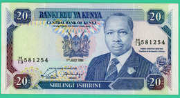 20 Shillings - Kenya - N°.H/13 581254  - 1991 - Neuf - - Kenya