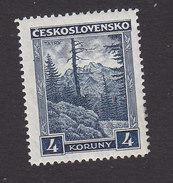 Czechoslovakia, Scott #166, Mint Hinged, Tatra Mountain, Issued 1929 - Czechoslovakia