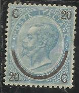 ITALIA REGNO ITALY KINGDOM 1865 VITTORIO EMANUELE II Cent. 20 Su 15 FERRO DI CAVALLO II TIPO MLH DISCRETAMENTE CENTRATO - 1861-78 Vittorio Emanuele II
