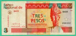 3 Pesos - Cuba - 1994 - N° BA03  288302 - TTB +- - Cuba