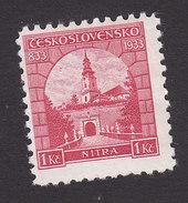 Czechoslovakia, Scott #193, Mint Hinged, First Christian Church At Nitra, Issued 1933 - Czechoslovakia