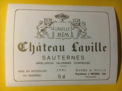 3368 - Château Laville 1981  Sauternes - Bordeaux