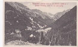 Längenfeld Im Oetztal Mit Hörndle U. Breiten Grieskogl Vom Duringweg (42743) * Karte Von 1912 - Längenfeld