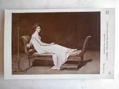 TABLEAUX - PARIS - Musée Du Louvre - J.L. DAVID - Portrait De Mme Récamier - Peintures & Tableaux