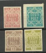 ESTONIA Estonie 1918/1919 Flower Design Michel 1 - 4 * - Estonia