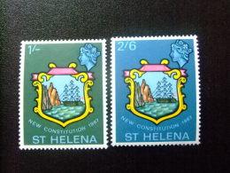 SAINTE-HELENE ST HELENA 1967 NUEVA CONSTITUCION Yvert  181 / 82 ** MNH - Saint Helena Island