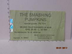 THE SMASHING PUMPKINS BIGLIETTO VINTAGE CONCERTO 1996 PALATRUSSARDI MILANO - Biglietti D'ingresso
