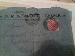 BUSTA PUBBLICITA´-ADVERTISING--M.MORTAROTTI-(FORNITURE MILITARI)-SELLERIA-CASALE MONFERRATO VB1915 FY11219 - Alessandria