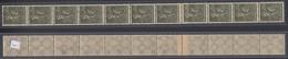 243a Dt.Reich 11er Streifen Mit Amtlicher Flickstelle Arbeiter 30 Mark ** /5 - Allemagne