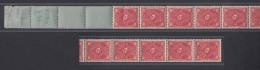 206 Dt.Reich RE 11er Streifen Posthorn Zweifarbig 10 Mark Postfrisch - Allemagne