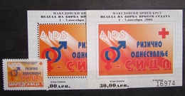 MACEDONIA 1995 Red Cross AIDS 1v+2S/S MNH - Macédoine