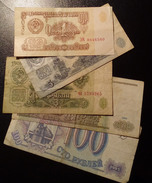 Lot Of Five Different Russian's Notes. - Monnaies & Billets