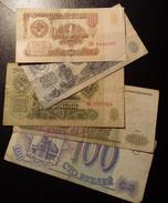 Lot Of Five Different Russian's Notes. - Münzen & Banknoten