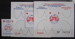 MACEDONIA 1996 Red Cross,TBC 1v & 2 S/S MNH - Macédoine