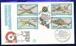FDC  FILAGRANO 1983 -   Costruzioni Aeronautiche (100210) - 6. 1946-.. Repubblica