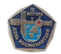 12 April Cosmonauts Day.Russia Badge - Space
