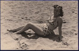 FOTO  CARTOLINA DA SPIAGGIA VADO LIGURE Di Anonima - F/P B/N (100210) - Foto