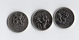 3 Monete 5 Korun Ceska Republika 1994 E 1993 Repubblica Ceca - Cecoslovacchia