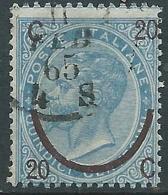 1865 REGNO USATO SOPRASTAMPATO 20 SU 15 CENT III TIPO - S25-16 - 1861-78 Vittorio Emanuele II