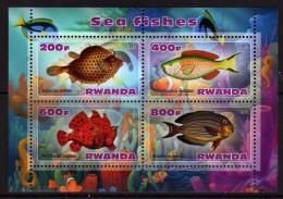 Rwanda 2013 - Poissons éxotiques - BF 4 Val Neufs // Mnh - 1990-99: Neufs