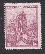 Czechoslovakia, Scott #214, Mint Hinged, Statue Of Macha, Issued 1936 - Unused Stamps
