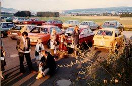 Photo Couleur Originale Vintage Parking D'Hier - Citroën Gs, Fiat 126, VW Sirocco, Opel Rekord, Audi, BMW, Mercedes - Automobiles