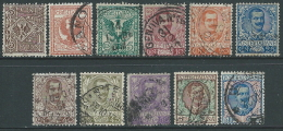 1901 REGNO USATO 11 VALORI - S.10-5 - 1900-44 Vittorio Emanuele III