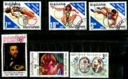 Bulgarie Y&T N°3609/3611.3619.3643.3714..oblitérés