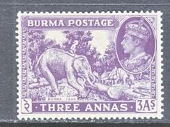 BURMA  26    *   ELEPHANT - Burma (...-1947)