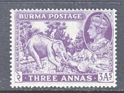 BURMA  26    **   ELEPHANT - Burma (...-1947)