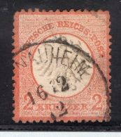 GERMANY REICH EAGLE Michel #8 CV$420 USED1872 CANCEL STAMP VF MINIOR CORNER FOLD - Unclassified