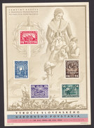 Czechoslovakia, Scott #288-292, Mint Hinged, National Uprising Against The Germans, Issued 1945 - Czechoslovakia