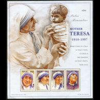 PALAU 1998 - Scott# 457 S/S Mother Teresa MNH - Palau